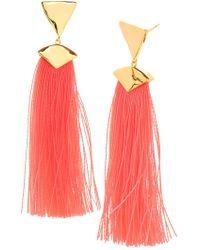 Gorjana - Havana 18k Gold Plated Tassel Drop Earrings - Lyst