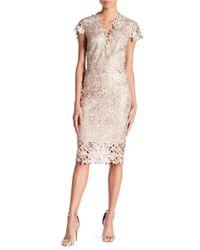 Nicole Bakti - Scalloped Lace Dress - Lyst