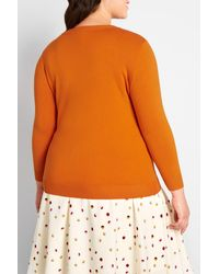 ModCloth Charter School Pullover - Orange