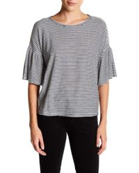 Two By Vince Camuto - Striped Bell Sleeve Tee - Lyst