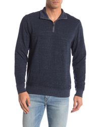 53d5840e0c9e Lyst - Faherty Brand Maled 1 4 Zip Pullover in Blue for Men