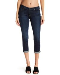 7 For All Mankind - Crop & Roll Cuffed Skinny Jeans - Lyst