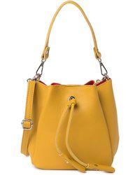 Luisa Vannini Leather Top Handle Crossbody Bag In Senape At Nordstrom Rack - Yellow