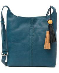 The Sak Huntley Leather Crossbody Bag In Teal At Nordstrom Rack - Blue