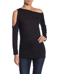 Go Couture Solid Off-the-shoulder Sweater - Black