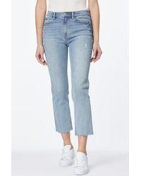Kensie High Rise Slim Fit Straight Leg Jeans - Blue