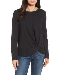 Caslon - Long Sleeve Front Knot Tee (petite) - Lyst