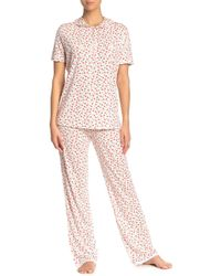 Cosabella Claire Floral Jersey Pyjama Pants - Pink