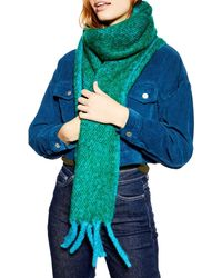 TOPSHOP Two Tone Scarf - Green