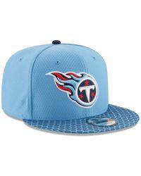 KTZ Nfl '17 9fifty Tenessee Titans Sideline Snapback Hat - Blue