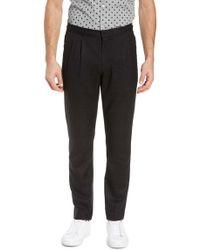 Calibrate Double Pleat Slim Fit Pants - Black