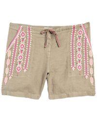 Johnny Was Sabriya Embroidered Shorts - Multicolor