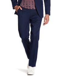Ben Sherman Blue Birdseye Flat Front Suit Separates Pants