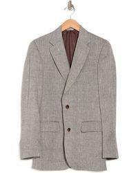 Billy Reid Burnette Cream Herringbone Two Button Notch Lapel Suit Separates Jacket - Grey