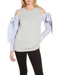 Trouvé - Cold Shoulder Sweatshirt - Lyst