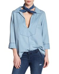 One Teaspoon Bleu Le Pure Shirt - Blue