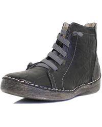 Bernie Mev Wynn Leather Sneaker - Black