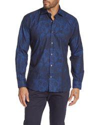 Maceoo - Blue Paisley Modern Fit Shirt - Lyst