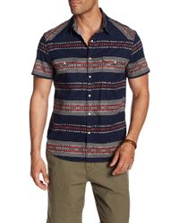 Lucky Brand - Geo Striped Short Sleeve Regular Fit Shirt - Lyst