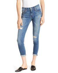 Joe's Jeans - Icon Crop Rolled Jeans - Lyst