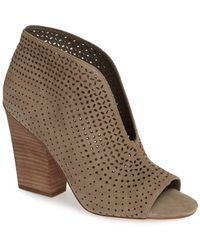 Vince Camuto Kainan Open Toe Bootie - Brown