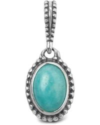 Relios Sterling Silver Amazonite Charm Pendant - Blue