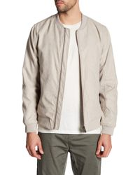 Lindbergh - Faux Suede Bomber Jacket - Lyst
