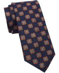 Ted Baker - Ornate Square Medallion Silk Wool Tie - Lyst