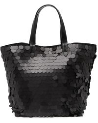 Deux Lux Mermaid Sequin Mini Tote - Black