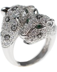 CZ by Kenneth Jay Lane - Cz Accented Panther Ring - Lyst