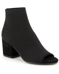 Eileen Fisher Croft Open Toe Knit Bootie - Black