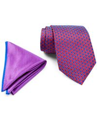 Ted Baker - Remy Neat Silk Tie & Pocket Square Set - Lyst