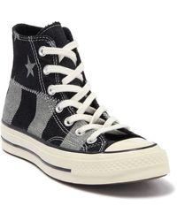 Converse Chuck Taylor® All Star® Chuck 70 High Top Denim Sneaker - Black
