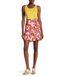 June & Hudson - Printed Ruffle Trim Wrap Skirt - Lyst