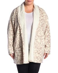 Hue - Cozy Faux Shearling Lined Robe (plus Size) - Lyst