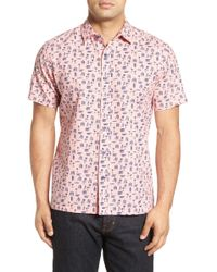 Kahala - 'island Vacation' Short Sleeve Linen Blend Sport Shirt - Lyst