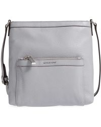 MICHAEL Michael Kors - Morgan Medium Leather Messenger Bag - Lyst