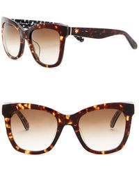 Kate Spade - Emmy 51mm Square Cat Eye Sunglasses - Lyst