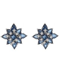 Carolee Cluster Clip-on Earrings - Blue