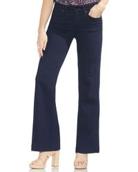 Vince Camuto High Rise Wide Leg Jeans (dark Rinse) - Blue