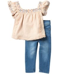 Jessica Simpson Top & Jeggings 2-piece Set (baby Girls) - Blue