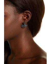 Stephen Dweck - Sterling Silver Faceted Chrome Diopside, Amethyst, & London Blue Topaz Earrings - Lyst