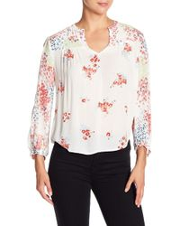 Lucky Brand Floral Long Sleeve Blouse - Multicolor