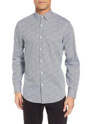 Calibrate - Trim Fit Geometric Sport Shirt - Lyst