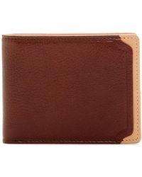 Trafalgar - Two-tone Slim Leather Bifold Wallet - Lyst