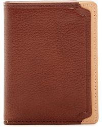 Trafalgar - Two-tone Leather L-fold Wallet - Lyst