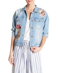 Romeo and Juliet Couture - Embroidered & Sequined Denim Jacket - Lyst