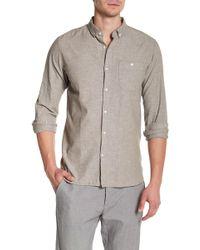Knowledge Cotton Apparel - Long Sleeve Linen Woven Shirt - Lyst