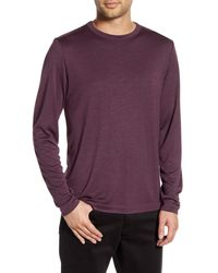 Theory Gaskell Slim Fit Long Sleeve T-shirt - Purple