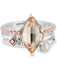 Lori Bonn - Glimmer Sterling Silver Au Naturale Stack Ring - Lyst
